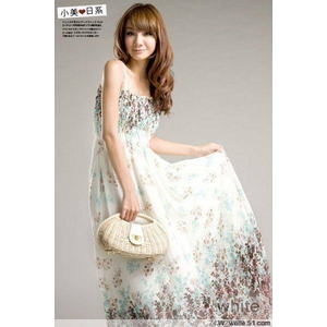 【C-Style】花柄リゾートマキシドレス♪ ホワイト