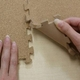 やさしいコルクマット 約2畳(16枚入)本体 ラージサイズ(45cm×45cm) 〔大判 ジョイントマット クッションマット 赤ちゃんマット 床暖房対応〕 - 縮小画像4