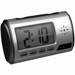 <防犯カメラ>置時計型ビデオカメラ 動体検知機能搭載 マイクロSD 8GB付 - 拡大画像