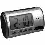 <防犯カメラ>置時計型ビデオカメラ 動体検知機能搭載 マイクロSD 8GB付