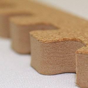 やさしいコルクマット 約2畳分サイドパーツ ラージサイズ(45cm×45cm) 〔大判 ジョイントマット クッションマット 赤ちゃんマット〕