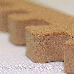 やさしいコルクマット 角用サイドパーツ 4本 ラージサイズ(45cm×45cm) 〔大判 ジョイントマット クッションマット 赤ちゃんマット〕