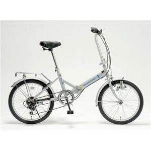 ドウシシャ 20インチ 折畳自転車 ギアカギライト GFD-206RLC シルバー - 拡大画像