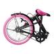 20インチ折畳自転車カラーモデル ブラック×ピンク 写真2