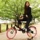 20インチ折畳自転車カラーモデル ブラック×ピンク 写真3