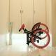 20インチ折畳自転車カラーモデル ブラック×ピンク 写真5