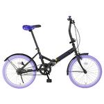 20インチ折畳自転車カラーモデル ブラック×パープル