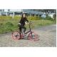 ドウシシャ 20インチ 折り畳み自転車カラータイヤモデル 外装6段変速付 ブラック×レッド GFD-206TRD  - 縮小画像2