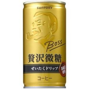 サントリー BOSS 贅沢微糖 190g缶 60本セット (2ケース)