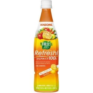 カゴメ 野菜生活100 Refresh! グレープフルーツ&レモン 777gPET 24本セット (2ケース)