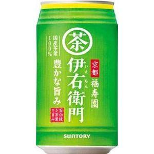 サントリー 緑茶 伊右衛門 アメリカンサイズ 340g缶 144本セット (6ケース)