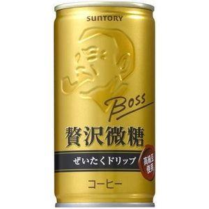 サントリー BOSS 贅沢微糖 190g缶 180本セット (6ケース)