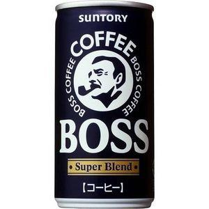 サントリー BOSS スーパーブレンド 190g缶 180本セット (6ケース)