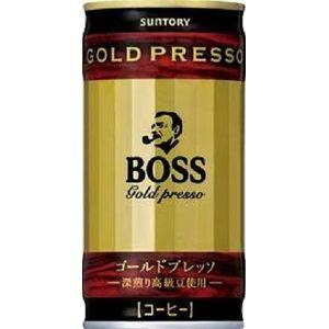 サントリー BOSS ゴールドプレッソ 190g缶 150本セット (5ケース)