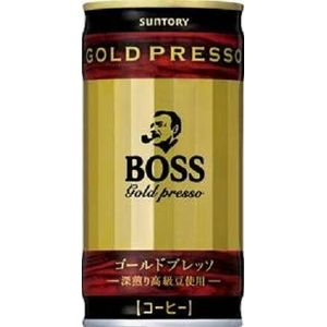 サントリー BOSS ゴールドプレッソ 190g缶 180本セット (6ケース)