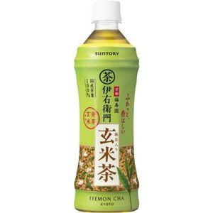 サントリー 緑茶 伊右衛門 玄米茶 500mlPET 144本セット (6ケース)