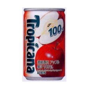 キリン トロピカーナ 100%フルーツ アップル 160g缶 180本セット (6ケース)