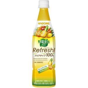 カゴメ 野菜生活100 Refresh! パインアップル&オレンジ 777gPET 72本セット (6ケース)
