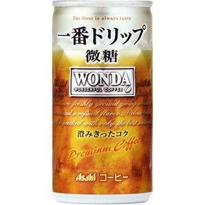 アサヒ WONDA 一番ドリップ 微糖 185g缶 180本セット (6ケース)