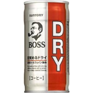 サントリー BOSS(ボス) ドライ 190g缶 180本セット(6ケース)