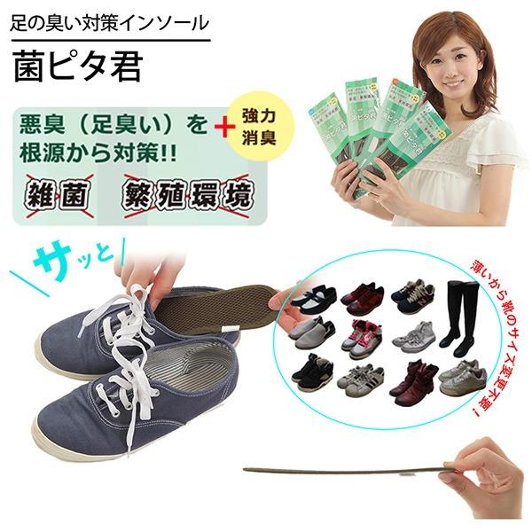菌ピタ君~靴の中敷~足臭い対策インソール