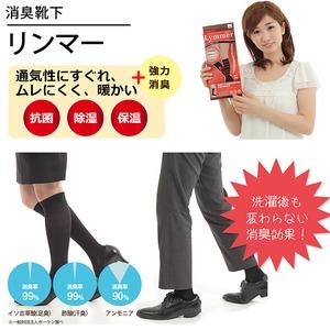 強力消臭靴下 リンマー(男性用Lサイズ 26〜28cm)  - 拡大画像