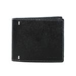 Paul Smith(ポールスミス) 小銭入れ付き 2つ折財布 レザー ブラック×ホワイト PSP837-10