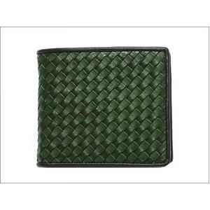 Paul Smith(ポールスミス) 2010年新作 ポールスミス イントレチャート 小銭入れ付き 2つ折財布 グリーン ABXA 1033 W152