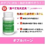 新タイプのダイエットサプリメント 【ダブルバーン】基礎代謝を上げて太りにくいカラダへ・・・!