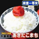 【味と価格に自信アリ!平成22年産新米】極上一等米! 千葉県産あきたこまち白米(30kgの玄米を精米して出荷します。重量が約10%目減りします)