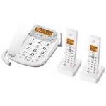 シャープ コードレス電話機(子機2台) JD-V33CW【送料無料】