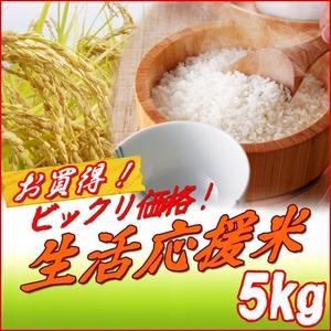 ビックリ価格!生活応援米【A】 白米5kg  - 拡大画像