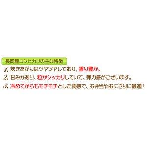 平成29年産 新潟県長岡産コシヒカリ(未検査米...の紹介画像2