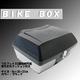 大型リアボックス/バイクボックス 大容量50L フルフェイス2個分収納可/背もたれクッション/鍵付き ブラック(黒)
