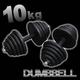 ダンベル 【10kg×2個セット】 計20キロ 〔筋トレグッズ〕 - 縮小画像1