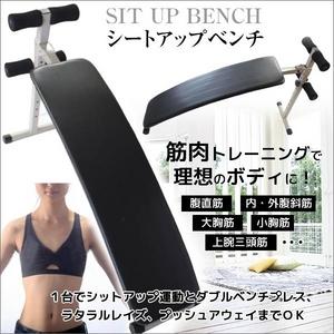 シットアップベンチ(腹筋トレーニング/フィットネス機器) 折りたたみ/コンパクト - 拡大画像