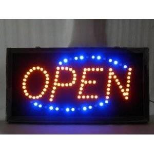 LEDネオンサイン看板/インテリアに/OPEN看板/ブルー - 拡大画像