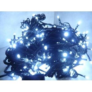 LED 100球イルミネーション クリスマスにも 連結可能 白色 - 拡大画像