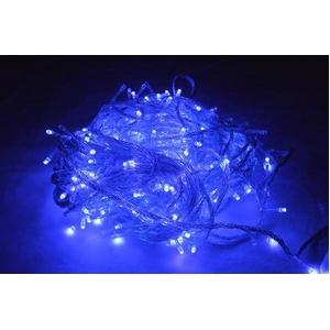 LED 300球イルミネーション クリスマスにも 連結可能 ブルー 青色 透明線 - 拡大画像