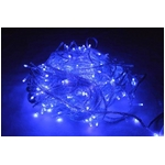 LED 300球イルミネーション クリスマスにも 連結可能 ブルー 青色 透明線
