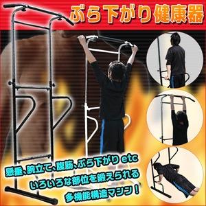 ぶら下がり健康器(エクササイズ機器/フィットネス機器) ブラック(黒) - 拡大画像