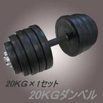 ラバーダンベル 【20kg×1個セット】 計20キロ 〔筋トレグッズ〕
