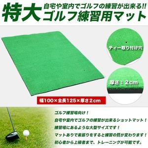 ゴルフ練習用マット/スイングマット 【特大サイズ】 100cm×125cm - 拡大画像