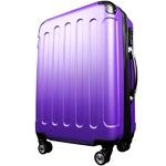 スーツケース/キャリーバッグ 【Mサイズ/中型4~6日】 TSA搭載 軽量 ファスナー パープル(紫)