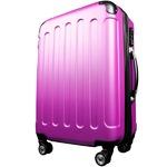スーツケース/キャリーバッグ 【Mサイズ/中型4~6日】 TSA搭載 軽量 ファスナー ピンク