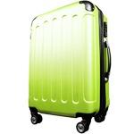 スーツケース/キャリーバッグ 【Lサイズ/大型7~14日】 TSA搭載 軽量 ファスナー イエロー(黄)