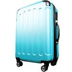 スーツケース/キャリーバッグ 【Lサイズ/大型7~14日】 TSA搭載 軽量 ファスナー ブルー(青)