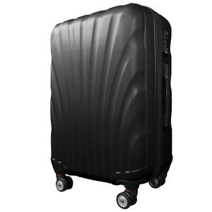 スーツケース/キャリーバッグ 【Sサイズ/小型1〜3日】 機内可(機内持ち込み) TSA搭載 軽量 ファスナー ブラック(黒)