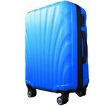 スーツケース/キャリーバッグ 【Mサイズ/中型4~6日】 TSA搭載 軽量 ファスナー ブルー(青)