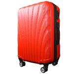 スーツケース/キャリーバッグ 【Mサイズ/中型4~6日】 TSA搭載 軽量 ファスナー レッド(赤)